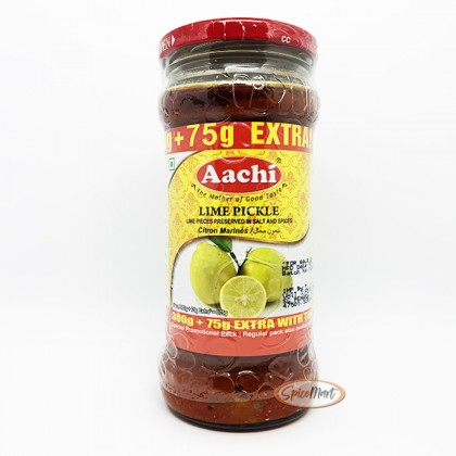 Aachi Lime Pickle 300g + 75g Promo Pack (Acar Limau)