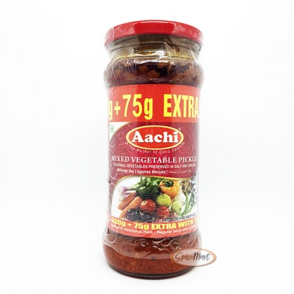 Aachi Mixed Vegetable Pickle 300g + 75g Promo Pack (Acar Buah Campuran)