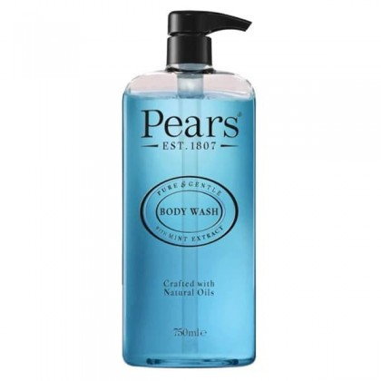 Pears Pure & Gentle Body Wash Shower Gel 500ml with Mint Extract
