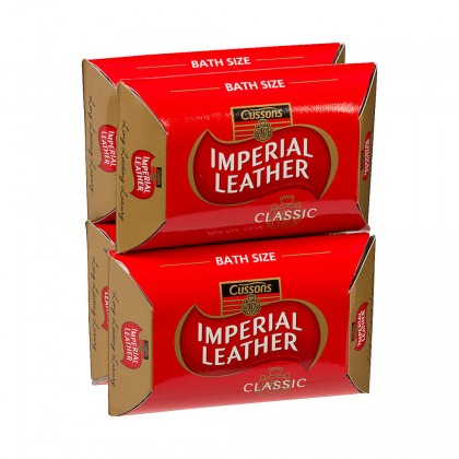 4x England Cussons Imperial Leather Classic Soap Bar 115g (Pack of 4)