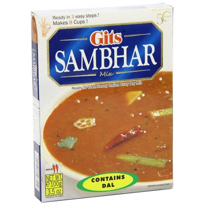 Gits Instant Sambhar Mix 100g Ready to Cook Indian Dal Curry Mix