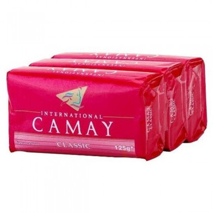 3x International Camay Classic Fragrance Soap Bar 125g (Red)