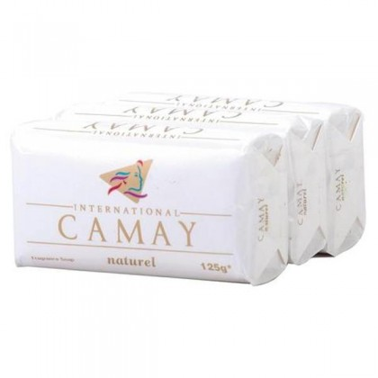 3x International Camay Naturel Fragrance Soap Bar 125g (White)