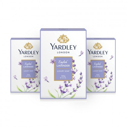 3x Yardley London English Lavender Luxury Soap 100g (Pack of 3)