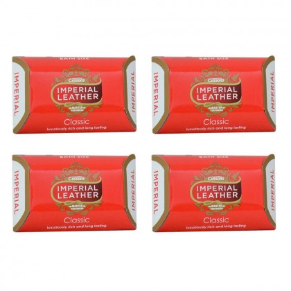 4x Cussons Imperial Leather Classic Soap Bar 100g (Pack of 4)