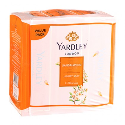 3x Yardley London Imperial Sandalwood Luxury Soap 100g (Pack of 3)