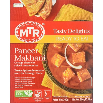 MTR Ready To Eat Paneer Makhani 300g Heat & Eat Cottage Cheese Gravy