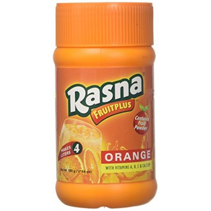 Rasna Fruit Plus Orange Juice Fruit Powder 750g Jar Serbuk Jus Oren