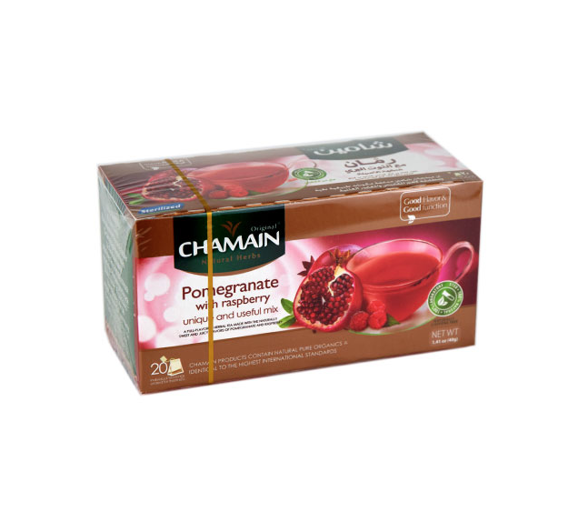 Chamain Syrian Pomegranate with Raspberry 20 Tea Bags