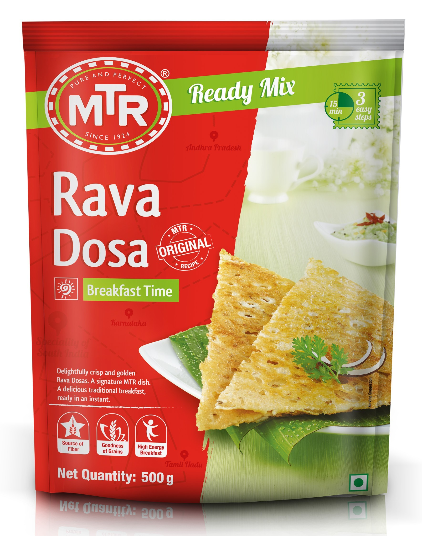 MTR Rava Dosa Instant Breakfast Ready Mix 500g (Tepung Thosai Segera)
