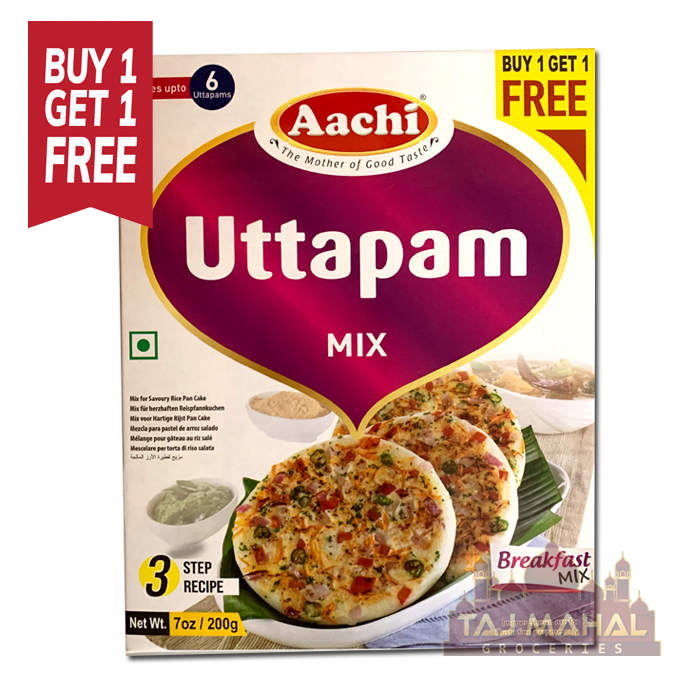 Buy 1 Get 1 Free Aachi Uttapam Breakfast Mix 200g