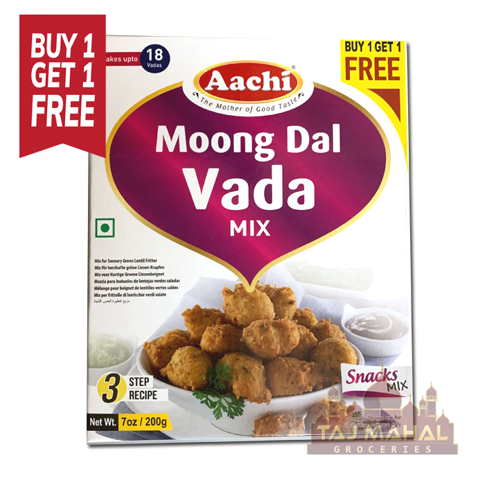Buy 1 Get 1 Free Aachi Moong Dal Vada Snacks Mix 200g